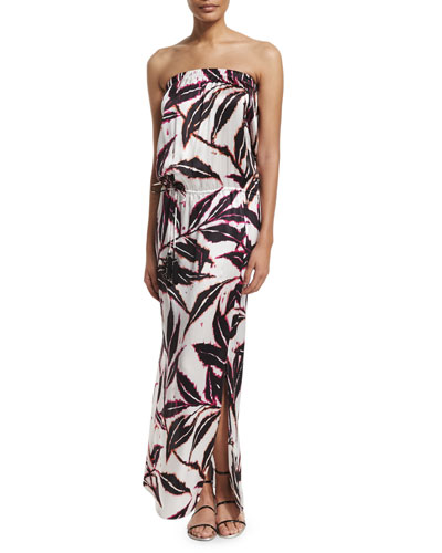 Printed Sleeveless Maxi Dress Coverup