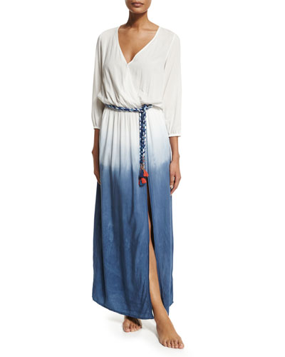 Rosental Dip-Dye Maxi Coverup Dress