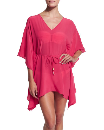 Kira Caftan Coverup with Tie-Waist