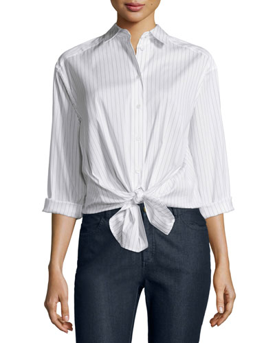 Leanne Pinstriped Blouse