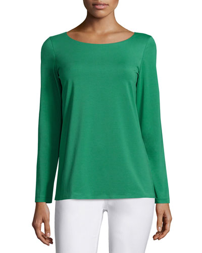 City Long-Sleeve Jersey Tee, Verde