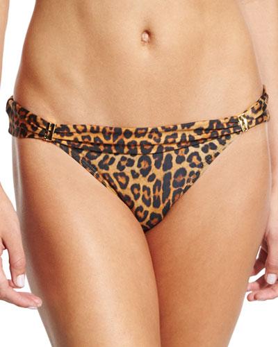 Murad Bia Leopard-Print Swim Bottom