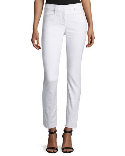 Mid-Rise Skinny Pants, White