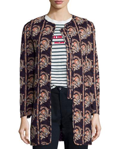 Erri Reversible Quilted Coat, Black