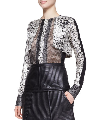 Long-Sleeve Top with Lace