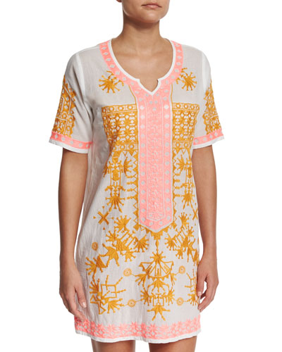 Keramas Embroidered Coverup Dress