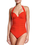 50s Gathered One-Piece Swimsuit