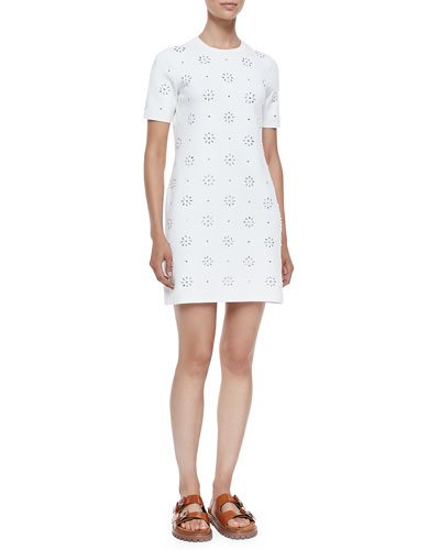 Cotton Eyelet T-Shirt Dress