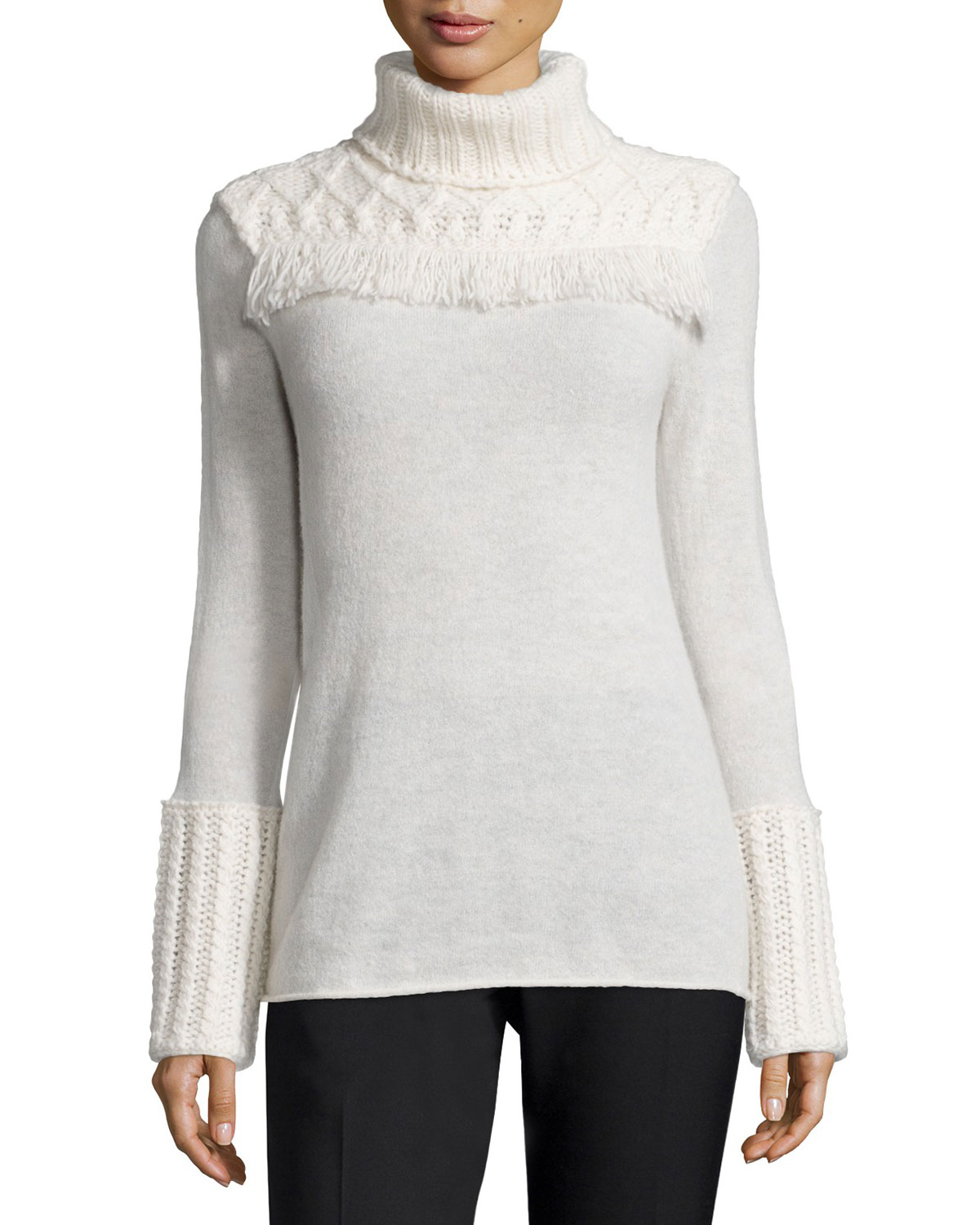 Chunky Turtleneck Pullover Sweater