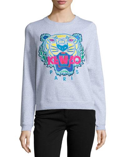 Cotton Classic Tiger Sweatshirt, Light Gray