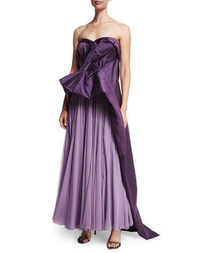 Strapless Cutaway Gown, Amethyst