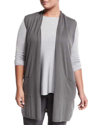 Maestoso Knit Vest, Plus Size