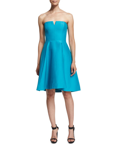 Strapless Fit-&-Flare Dress, Caribbean