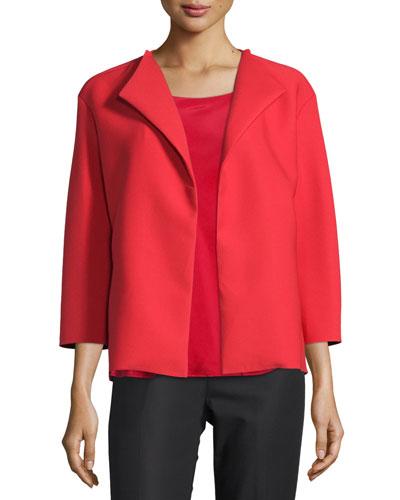 Mariska Boxy Topper Jacket, Red
