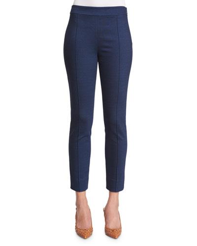 Farrah Skinny Ponte Ankle Pants, Indigo