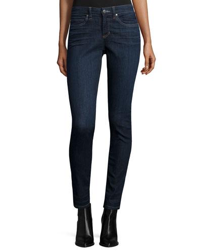 Organic Soft Stretch Skinny Jeans, Deep Indigo