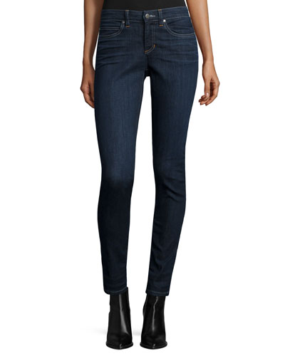 Organic Soft Stretch Skinny Jeans, Deep Indigo, Plus Size