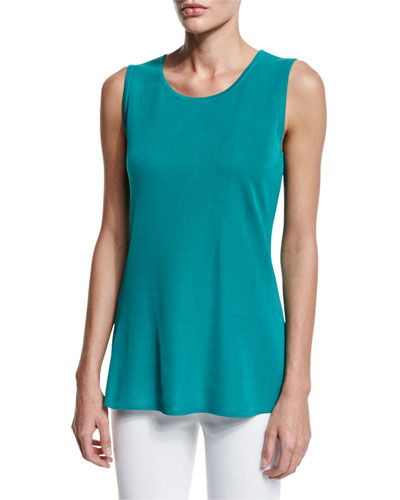 Sleeveless Long Tank, Linden, Plus Size