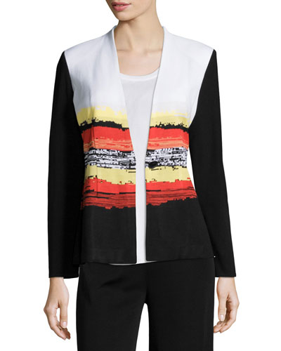 Graphic Sunset One-Button Jacket, Multi