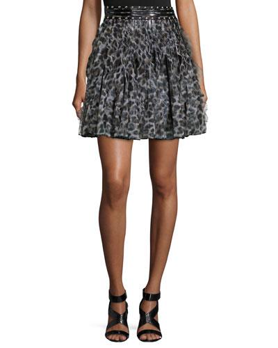 Wild Ninja Printed Ruffle Skirt