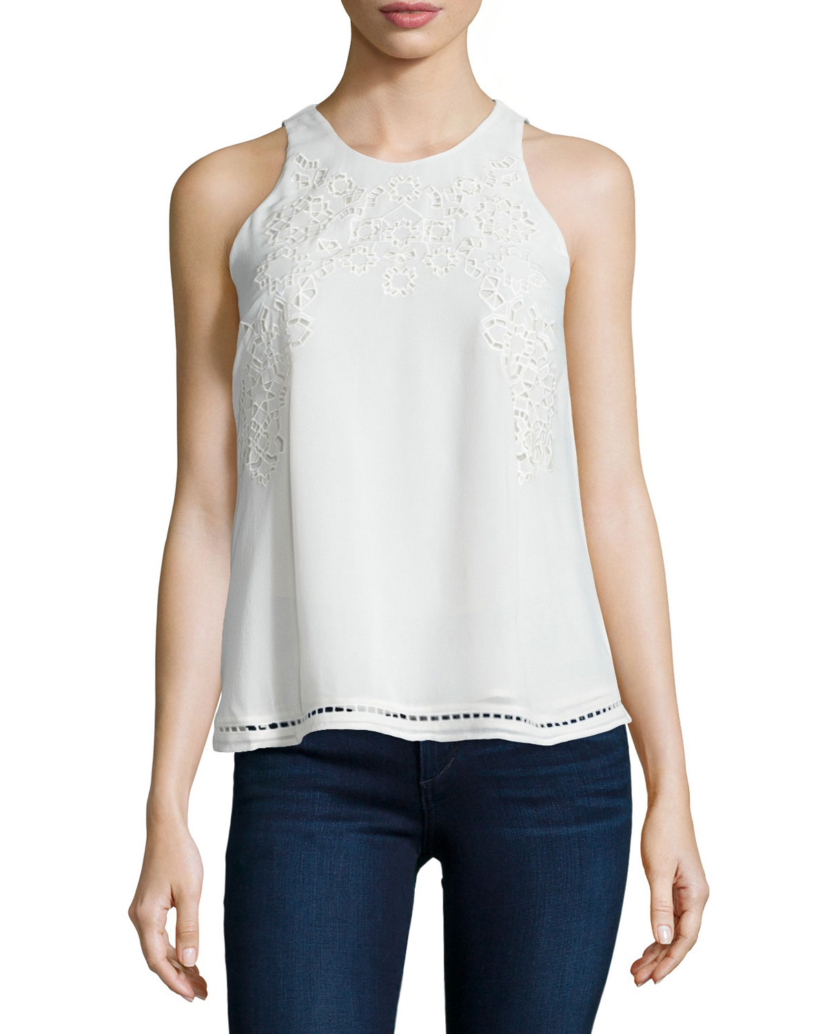 Perdue Crocheted Sleeveless Top