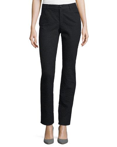Curvy Slim Grid Jeans