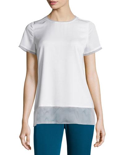 Short-Sleeve Pullover Top