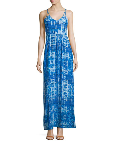 Kisa Sleeveless Maxi Dress, Santiago