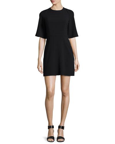 Half-Sleeve Fit & Flare Dress