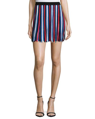 Bergen Striped Mini Skirt, Fiesta