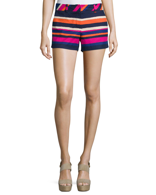 Corbin Striped Short Shorts