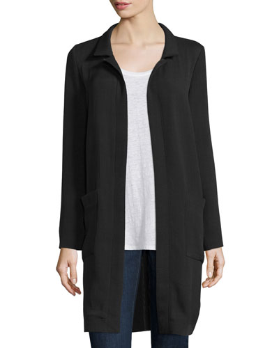 Long Lightweight Silk Jacket