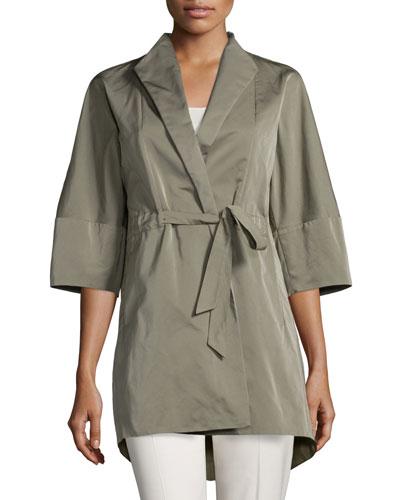 Rita Half-Sleeve Self-Tie Topper Jacket