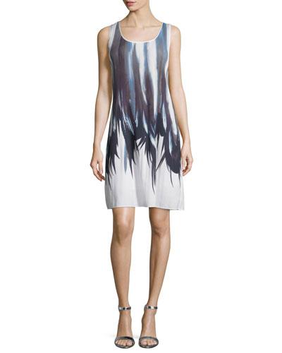 Raewyn Printed Shift Dress, White/Multi