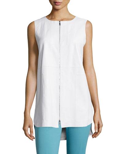 Athena Two-Zip Leather Vest