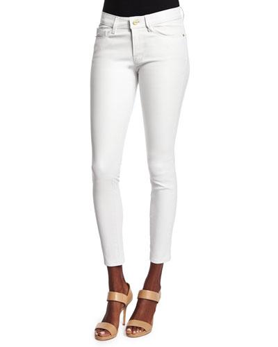 Le Skinny Leather Pants, Blanc