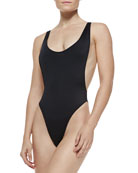 Norma Kamali Marissa High-Leg One-Piece Swimsuit