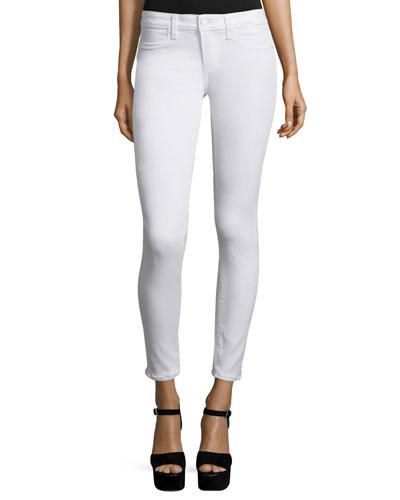 Verdugo Ultra Skinny Ankle Jeans, White Mist