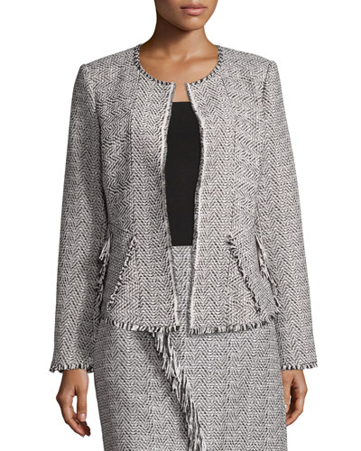 Sydney Deconstructed Herringbone Jacket