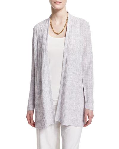 Fine Linen Grid Cardigan