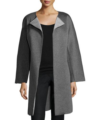 Double-Face Long Jacket, Dark Gray