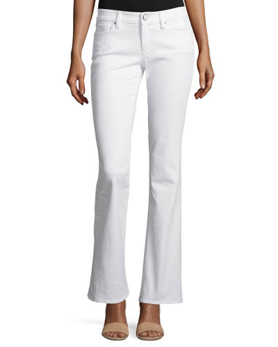 Worth Flare Boot-Cut Jeans, Resort White