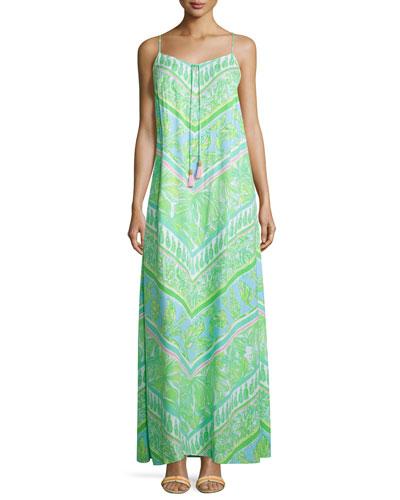 Philomena Sleeveless Printed Maxi Dress
