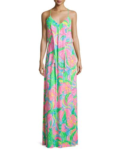 Rosa Sleeveless Printed Maxi Dress
