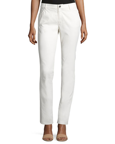 Curve Slim-Leg Jeans, Ecru