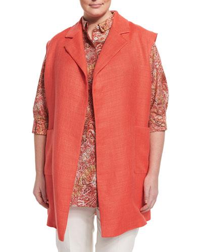 Grano Woven Vest, Plus Size
