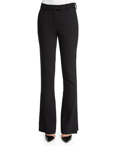 Slimming Side-Slit Pants, Black