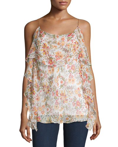 Talk To Me Floral-Print Top, Floral