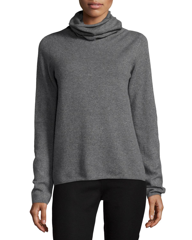 Cashmere Turtleneck Sweater, Gray