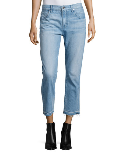 The Relaxed Skinny Cropped Jeans, Cool Cloudy Blue